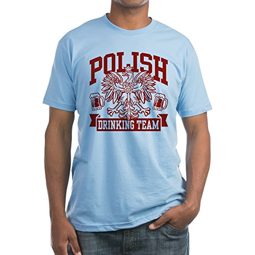 (CafePress - Polish Drinking Team - Fitted T-Shirt, Vintage Fit Soft Cotton Tee Baby Blue)