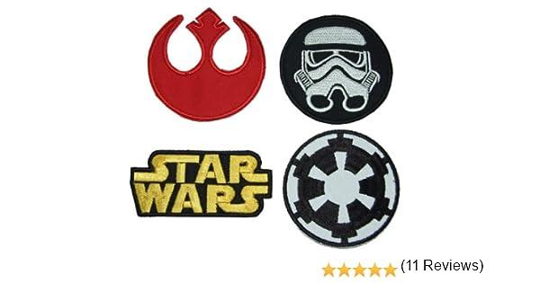 Star Wars – Parches con diseño de logo clásico y emblemas para aplicar con plancha, 4 unidades: Amazon.es: Electrónica