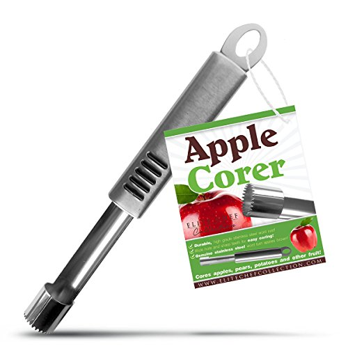 Elite Chef Stainless Steel Apple and Cupcake Corer Remover Makes Coring Fun & Easy
