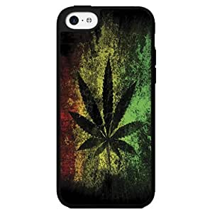 Yellow, Green, and Red Rasta Support Legalizing Weed Hard Snap on Phone Case (iPhone 5c)