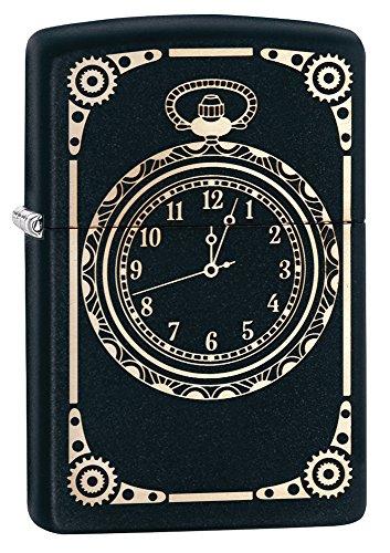 (Zippo Lighter, Brass, Black, 5.5 x 3.5 x 1 cm)