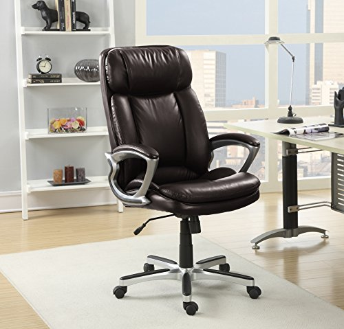 Serta 43675A Executive Chair Office, Big And Tall, Chestnut