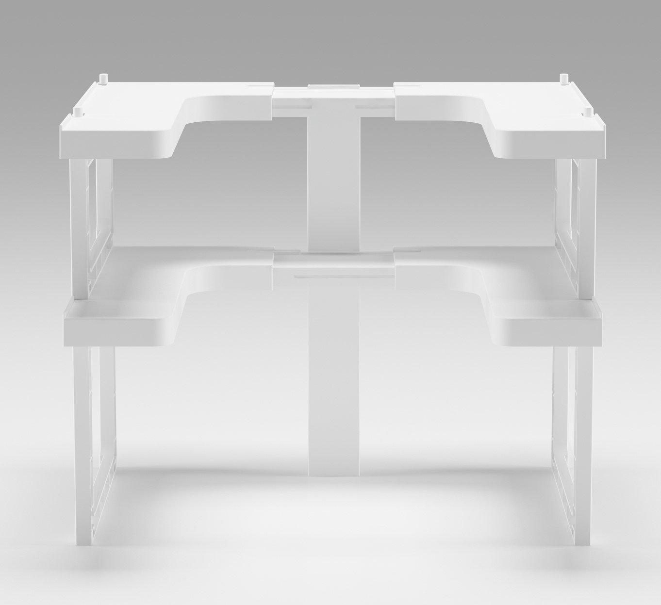 art/ículos de manualidades con fuerte pata central de soporte resistente organizaci/ón de la cocina capacidad para hasta 14 kg por estante incluye 2 unidades Estante organizador apilable para especias para armarios maquillaje