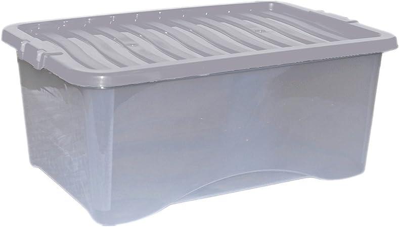 Whatmore UK - Cajas de almacenaje con tapa (plástico, 45 L): Amazon.es: Hogar