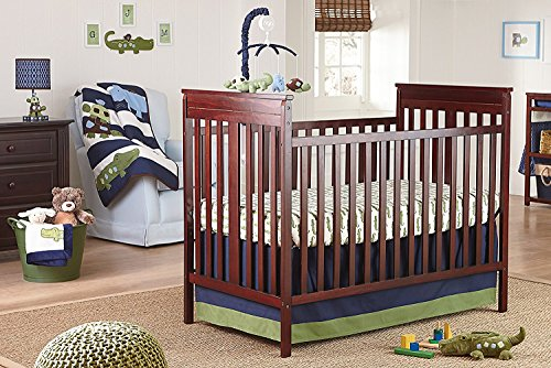 Baby Luxury Bedding Crib (NoJo Alligator Blues 4 Piece Crib Set)