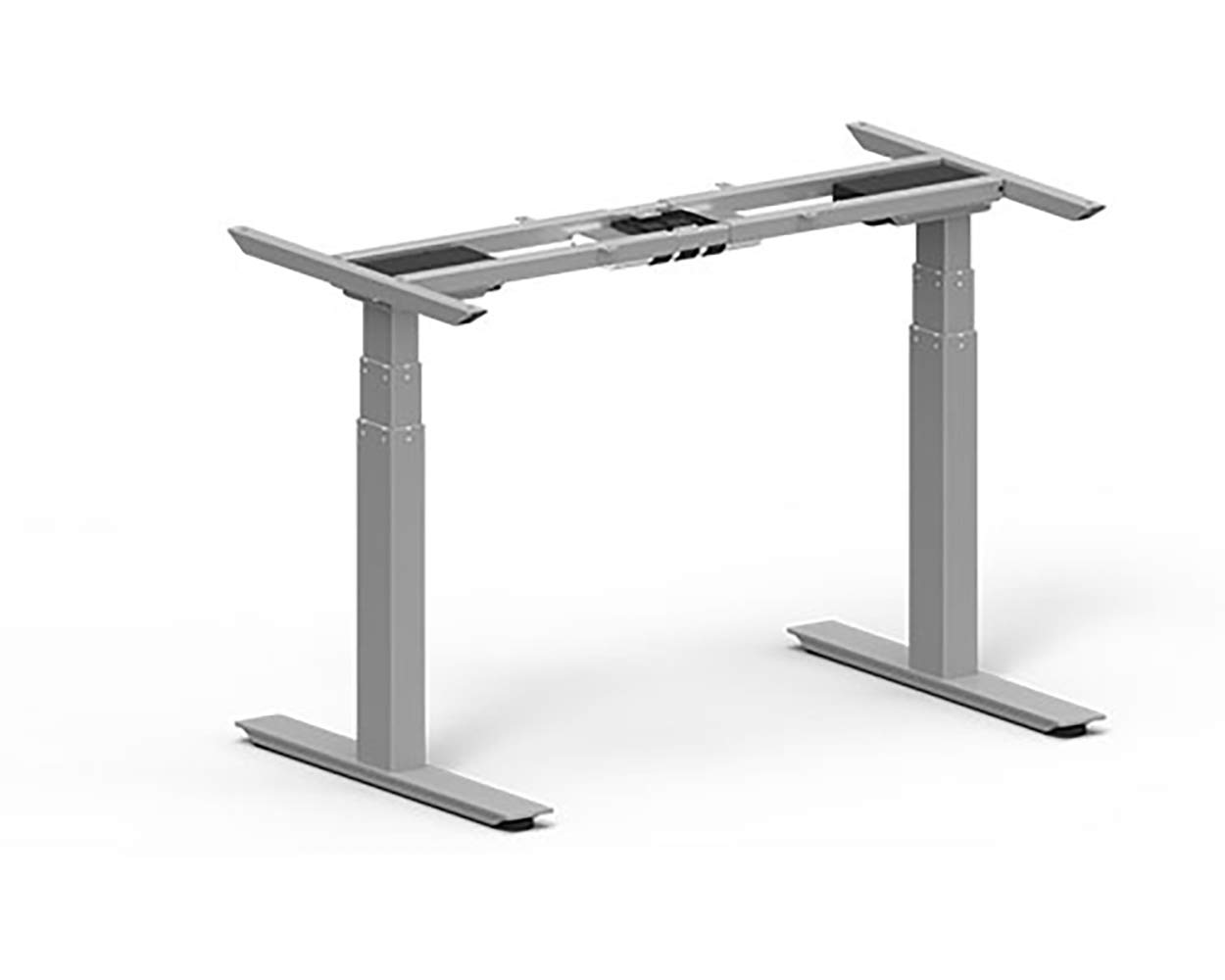 Anthrodesk Sit to Stand Height Adjustable Standing Desk (Fast Assembly Silver Dual Motor)