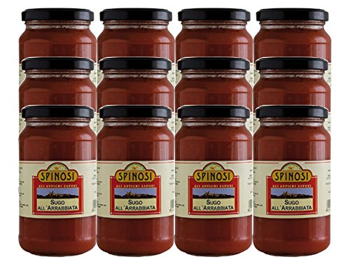 Sugo all'Arrabiata (Arrabiata Sauce) by Spinosi (Case of 12 - 12 Ounce Jars)