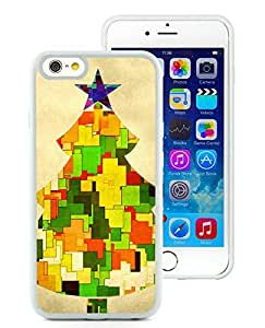 Fashion Style iPhone 6 Case,Christmas Tree White iPhone 6 4.7 Inch TPU Case 16