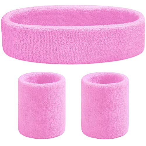 - Favofit Headband/Wristbands for Women Men Girls Boys for Gym Workout & Yoga, 3 Pack, Super Comfy Sports Sweatbands for Football Baseball Basketball Soccer & Tennis, Sweat Out of Your Eyes & Wrists