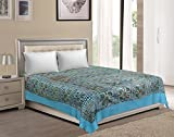 Vaibhav International Multicolor Mirror Work Cotton Double Bedsheet