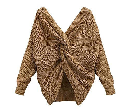 Tricot Pull V Asym Col en Femme Sexy qPFwXS