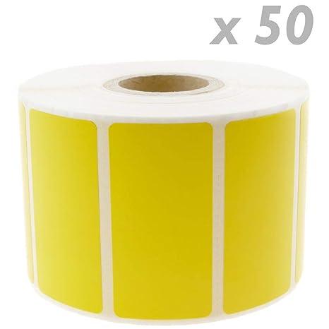 BeMatik - Rollo Bobina de 1100 Etiquetas Adhesivas para Impresora ...