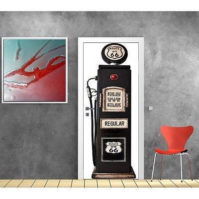 Door Wallpaper Petrol Pump 799 73x204cm Amazoncouk Kitchen Home