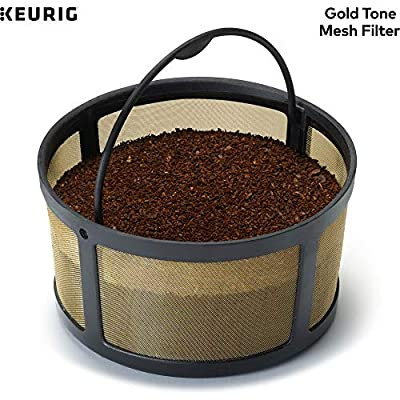 Keurig Reusable Mesh Ground Coffee Filter, Compatible with K-Duo Essentials and K-Duo Brewers only, Eco-Friendly Way to Brew a Carafe, Gold Tone Mesh by Keurig