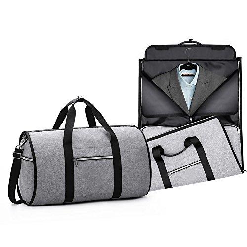 (Convertible Garment Bag with Shoulder Strap Carry on Duffel Bag for Men Women)