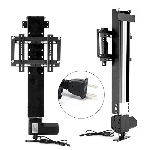 Happybuy TV Lift Automatic TV Bracket Fit for 14-32 inch TVs Bracket Stand 110V AC TV Bracket with Shelf for Home Use TV Bracket Wall Mount with Remote Controller by Happybuy