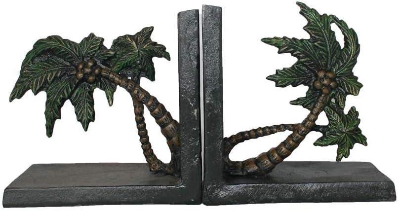 QIBAJIU Estatuas para Jardín Escultura Decorativa Regalo Estatua Hierro Fundido Decoración De Metal Sujetalibros Regalo Decoración del Hogar