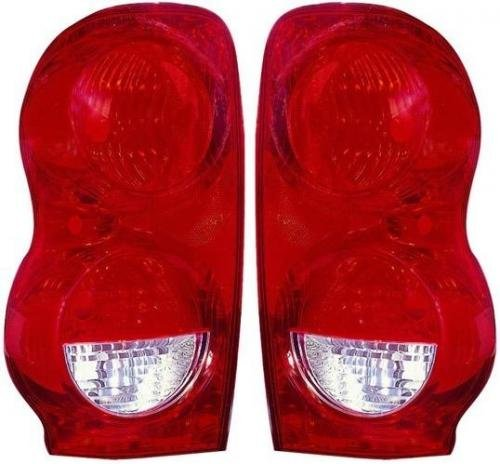 Go-Parts PAIR/SET OE Replacement for 2004-2009 Dodge Durango Rear Tail Lights Lamps Assemblies/Lens / Cover - Left & Right (Driver & Passenger) for Dodge Durango