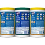 Clorox Disinfecting Wipes Value Pack, Crisp Lemon and Fresh Scent - 3 Pack - 75 Each (Packaging May Vary) (.4 pack(225 Wipes))