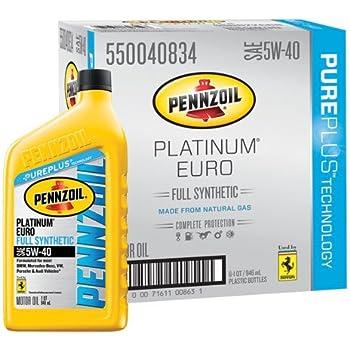 Pennzoil 550040834 6pk platinum euro sae 5w 40 for Pennzoil ultra platinum 0w 40 motor oil