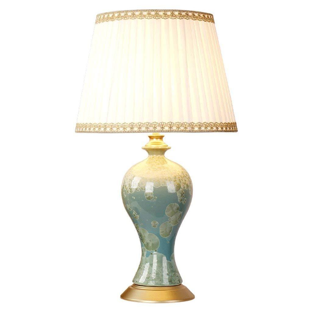 AME Tischlampe mediterranen Stil Keramik Tischlampe, Tischlampe, Tischlampe, warme Schlafzimmer Nachttischlampe Wohnzimmer Studie, Vase Form, H51Cm  W30Cm B07J57HZXT | Schön  d6d360