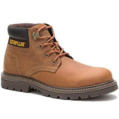 Caterpillar Men's Outbase Waterproof Work Boot, Brown, 12 W US: Shoes