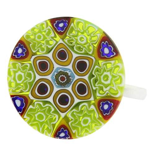 - GlassOfVenice Murano Glass Millefiori Ring #9