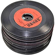 "VinylShopUS - Lot of 7"" Vinyl Records for Crafts & Decoration Artwork for Party Decor Artist Studio Vintage Look (Lot of 10)"