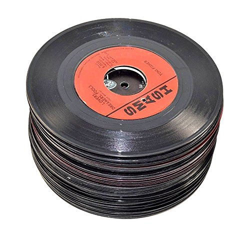 "VinylShopUS - Lot of 7"" Vinyl Records for Crafts & Decoration Artwork for Party Decor Artist Studio Vintage Look (Lot of 50)"