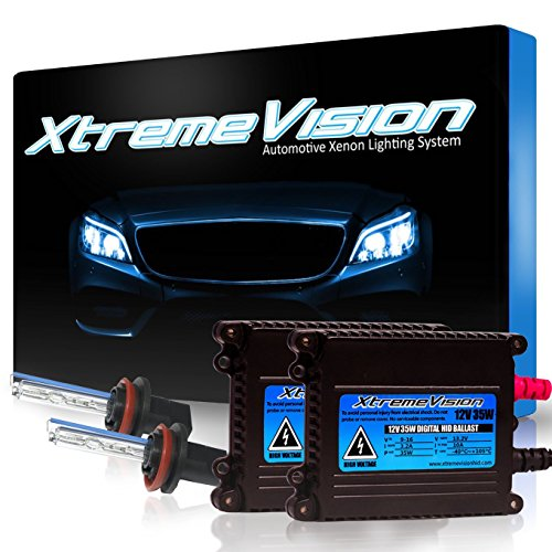 XtremeVision DC 35W HID Xenon Conversion Kit with Premium Slim Ballast - H11 6000K - Light Blue - 2 Year Warranty by XtremeVision