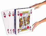 "Kitchen & Housewares : Forum Novelties Super Jumbo Face Extra Large Playing Cards- 10"" x 14"" Big Full Deck"