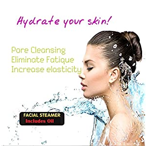 Lift Care Spa Home Facial Steamer Sauna Includes Free Euclayptus Oilopen Pores and Extract Blackheads, Rejuvenate and Hydrate Your Skin for Younger, Youthful Complexion