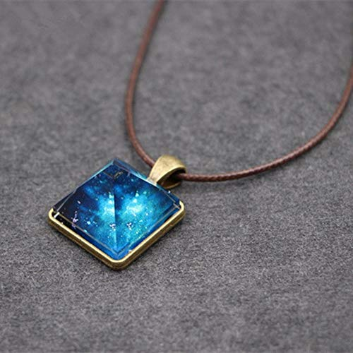 1pc Women Fashion for Men Vintage Cool Jewelry Necklace Pendant Luminous Crystal DF2N