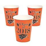 Orange Class of 2018 Grad Party Paper Cups