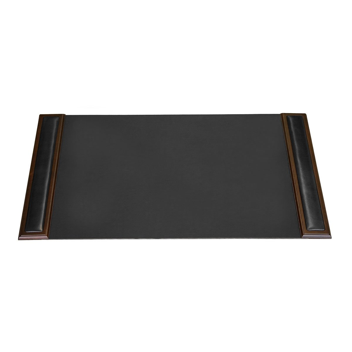 Dacasso Walnut and Leather Desk Pad with Side-rails,34 by 20 Inch