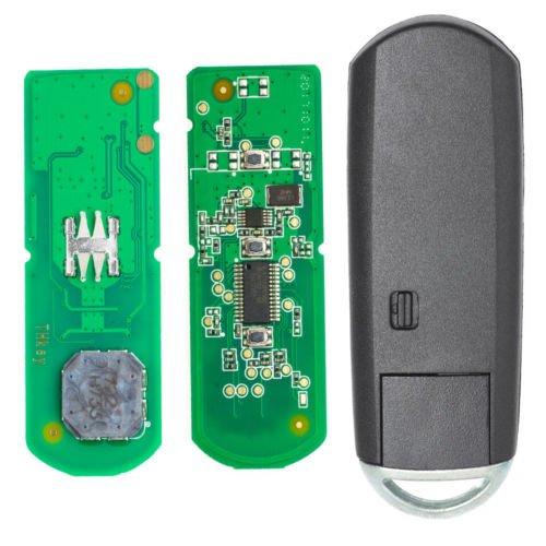 Keyecu Genuine Remote Key Fob 3 Button 433Mhz ID83 for Mazda 3 6 FCC ID SKE13E-01