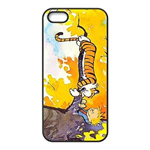 Calvin and Hobbes Fashion Comstom Plastic case cover For Iphone 5s