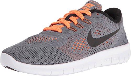 (NIKE Grade-School Free Rn Cool Grey/Black-Total Orange 833989-004 Shoe 4.5Y M US Youth)