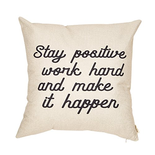 Fjfz Stay Positive Work Hard and Make it Happen Motivational Sign Inspirational Quote