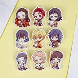 Raleighsee Demon Slayer Anime Cartoon Acrylic Badge Collectible Brooch Pins Clothing Bag Accessories Anime Fans Gift
