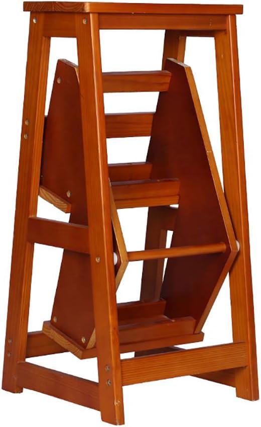 Escalera multifunción escaleras Plegables Taburete de Madera Maciza Taburete Plegable Plegable Biblioteca Taburete Cocina de Madera Multifuncional Uso de Oficina: Amazon.es: Hogar