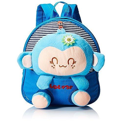 Generic Kids Gift Ideas For Boys Girls Canvas School Bag Animal Cartoon Backpack Satchel Book Blue