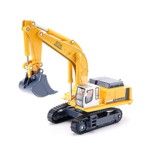 KDW 1/87 Scale Diecast Mini Crawler Excavator Construction Vehicles Models -