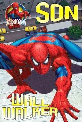 Fantástico colorido pared Walker Spiderman hijo Tarjeta de ...