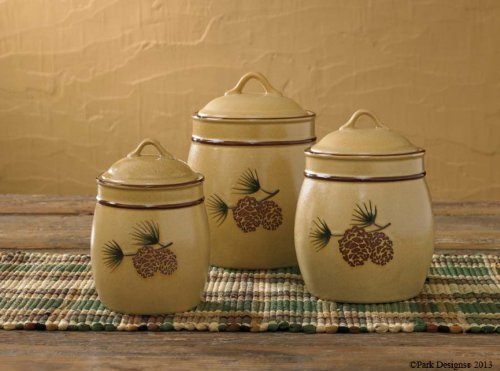 Pine Bluff Canister Set (Pinecone Canister Set)