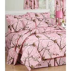 Realtree Ap Pink Camo Comforter Bedding Set - Twin