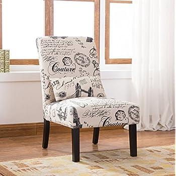 Amazon Com Roundhill Furniture Ac162 Pisano Script Linen