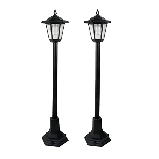Led garden lights lamp post solar powered lantern patio pathway led garden lights lamp post solar powered lantern patio pathway walkway outdoor 2 aloadofball Image collections