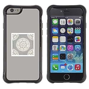 Suave TPU GEL Carcasa Funda Silicona Blando Estuche Caso de protección (para) Apple Iphone 6 / CECELL Phone case / / Handicraft Art Drawing White /