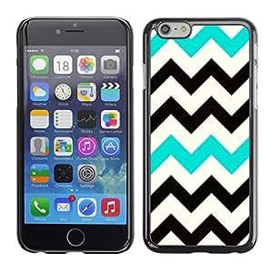 For Apple iPhone 6 Plus(5.5 inches)Case , Black Teal White Pattern Clean - Diseño Patrón Teléfono Caso Cubierta Case Bumper Duro Protección Case Cover Funda